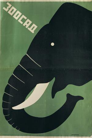 Poster for the Leningrad Zoo, 1928