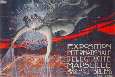 Poster Advertising the Exposition Internationale d'Electricite at Marseille, 1908