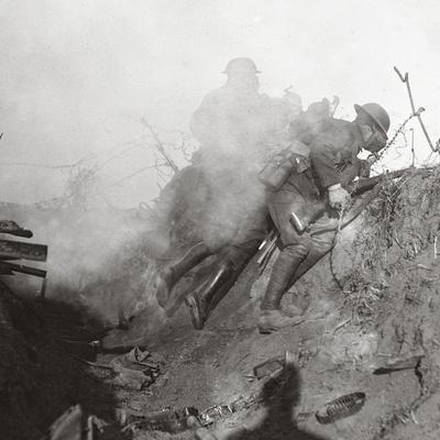 Amid Bursting Gas and Tear Shells We Dislodge the 'Bosche' from Bourlon Wood, 1917