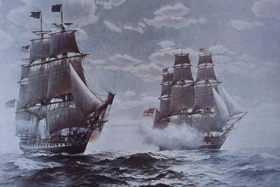 USS Constitution and HMS Java