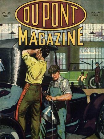 Automobile Repair, Front Cover of the 'Dupont Magazine', January 1919