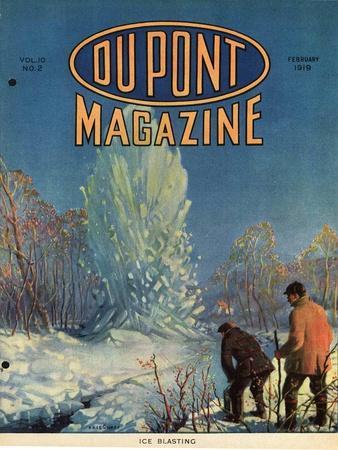 Ice Blasting, Front Cover of the 'Dupont Magazine', February 1919