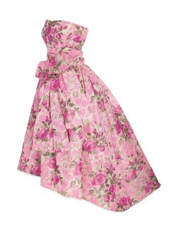Pink Silk Taffeta Chine Gown, Yves Saint Laurent for Christian Dior, 1956