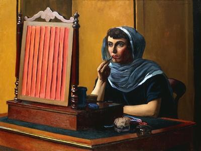 Young Woman Putting on Lipstick; Jeune Femme Se Mettant Du Rouge a Levres, 1925