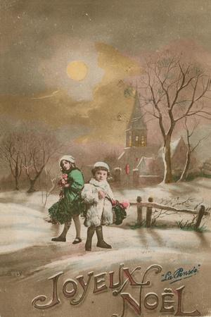 Happy Christmas. Postcard Sent in 1913