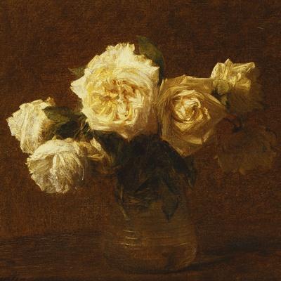 Six Yellow Roses in a Vase; Six Roses Jaunes Dans Une Vase, 1903