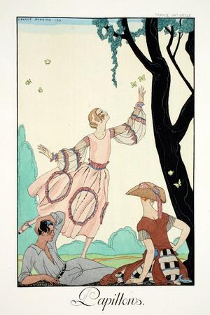 Butterflies, from 'Falbalas and Fanfreluches, Almanach des Modes Présentes,