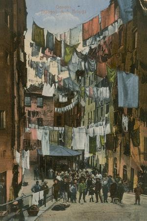 Truogoli Di Santa Brigida; Genoa. Postcard Sent in 1913