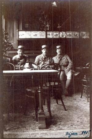 Soldiers in a Cafe, Dijon, 1915