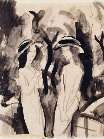 Two Girls; Zwei Madchen, 1914