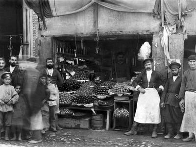 Market Stall in St Petersburg, c.1900
