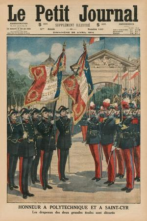 Honour to Polytechnique and Saint-Cyr, Front Cover Illustration from 'Le Petit Journal',…