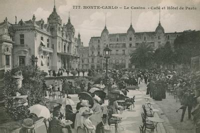 Hotel de Paris Monte-Carlo in Monte Carlo, Monaco, France. Postcard Sent in 1913