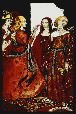 Queens Whose Finger Once Did Stir Men'. 'Queens', Nine Glass Panels Acided, Stained and Painted,…