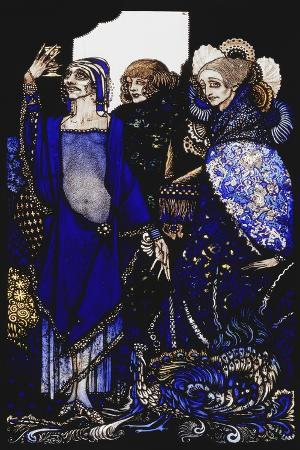 Queens Who Wasted the East by Proxy....'. 'Queens', Nine Glass Panels Acide