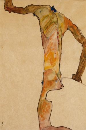 Male Nude; Mannlicher Akt, 1910