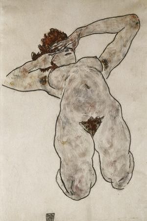 Nude Lying Down; Liegende Nackte, 1917