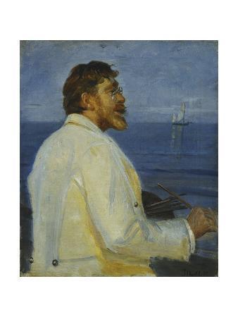 Portrait of the Artist Peder Severin Kroyer, Half-Length, 1907