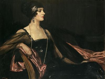 A Lady in Black: Portrait of Jean Ainsworth, Viscountess Massereene and Ferrard, 1917