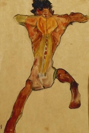 Male Nude Seen from Back; Mannlicher Ruckenakt, 1910