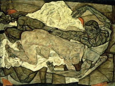 Lovers (Man and Woman I); Liebespaar (Mann Und Frau I), 1914