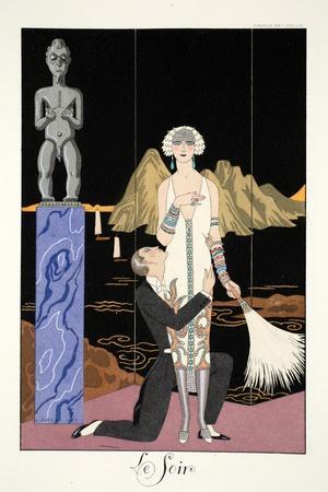 Evening, from 'Falbalas and Fanfreluches, Almanach des Modes Présentes, Passées et Futures', 1926
