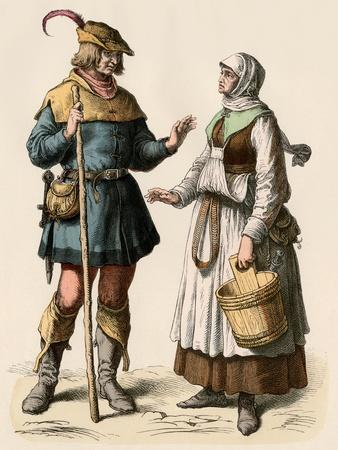 German Farmer and His Wife, 1500s
