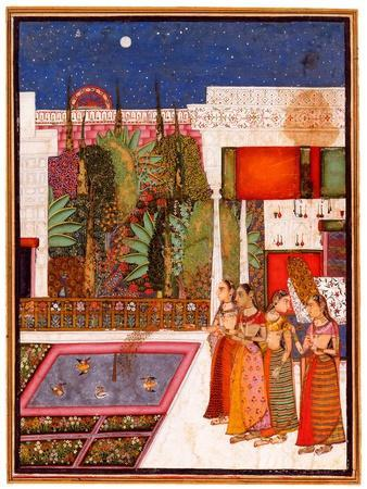 Four Women in a Palace Garden