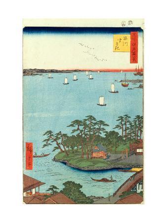 Shinagawa Susaki (One Hundred Famous Views of Edo)