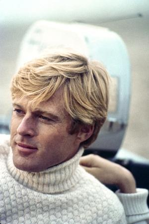 The Way We Were, Robert Redford, Directed by Sydney Pollack on the Set, 1973