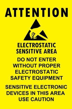 Electrostatic Sensitive Area ESD Warning Sign Plastic Sign