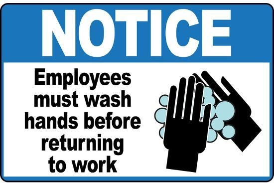 Refreshing image for employees must wash hands sign printable