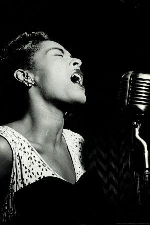 Billie Holiday Signing Music Plastic Sign