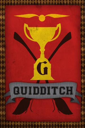 Quidditch Champions House Trophy Plastic Sign
