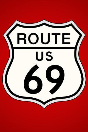 Route 69 Highway Plastic Sign