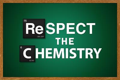 Respect the Chemistry Chalkboard Television Plastic Sign