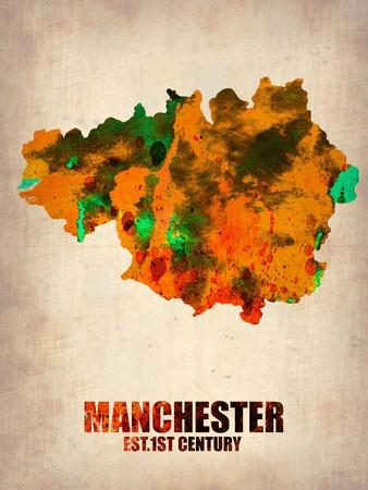 Manchester Watercolor Poster