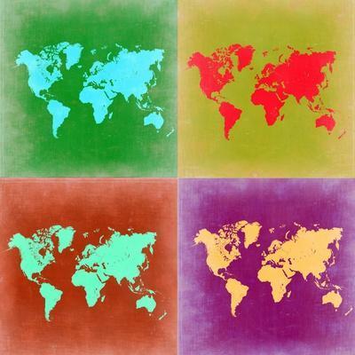 Pop Art World Map 3