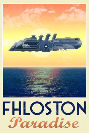 Fhloston Paradise Retro Travel Plastic Sign