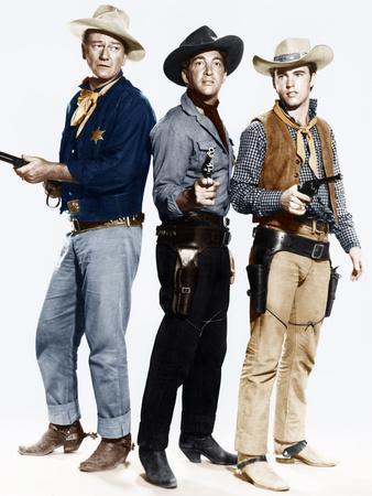 RIO BRAVO, from left: John Wayne, Dean Martin, Ricky Nelson, 1959