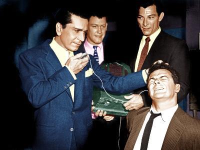 THE BIG COMBO, from left: Richard Conte, Earl Holliman, Lee Van CLeef, Cornel Wilde, 1955