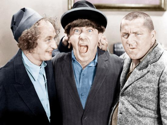 The Three Stooges From Left Larry Fine Moe Howard