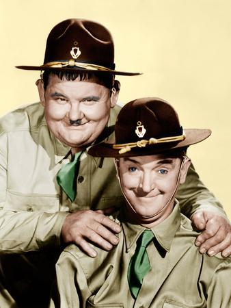 GREAT GUNS, from left: Oliver Hardy, Stan Laurel [aka Laurel and Hardy], 1941.