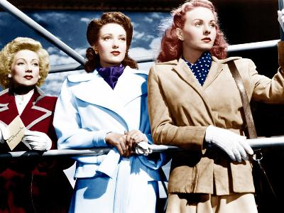 A LETTER TO THREE WIVES, from left: Ann Sothern, Linda Darnell, Jeanne Crain, 1949.