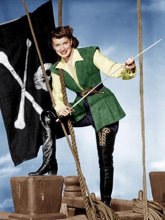 AGAINST ALL FLAGS, Maureen O'Hara, 1952
