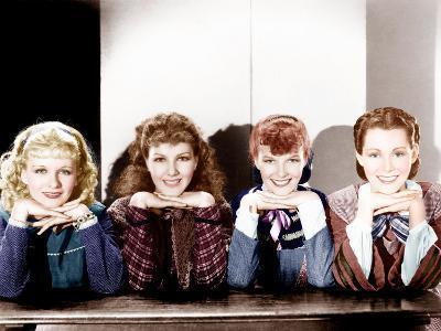 LITTLE WOMEN, from left: Joan Bennett, Jean Parker, Katharine Hepburn, Frances Dee, 1933