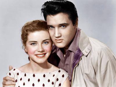 KING CREOLE, from left: Dolores Hart, Elvis Presley, 1958