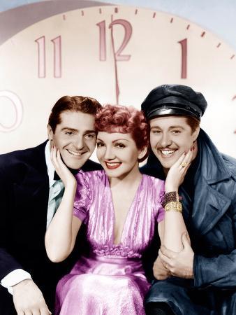 MIDNIGHT, from left: Francis Lederer, Claudette Colbert, Don Ameche, 1939