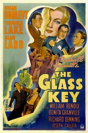 The Glass Key, William Bendix, Veronica Lake, Brian Donlevy, Alan Ladd, 1942