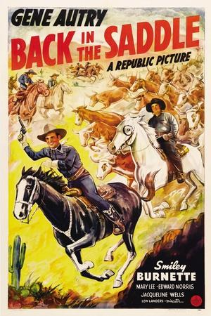 BACK IN THE SADDLE, from left: Gene Autry, Smiley Burnette, 1941.